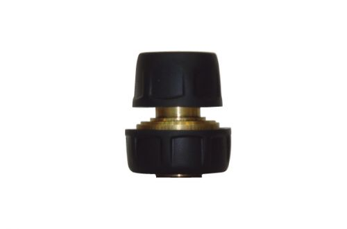 "3/4"" Brass Hose Repair Connector With Rubber Protector BW-C318R"
