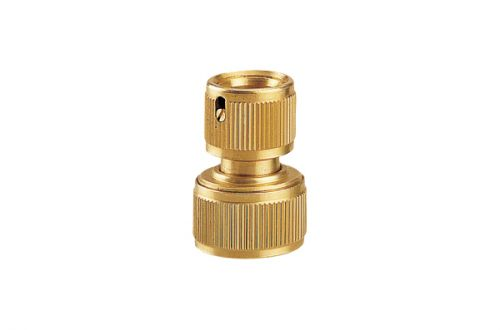 "3/4"" Brass Hose Repair Connector With Water Stop BW-C319"