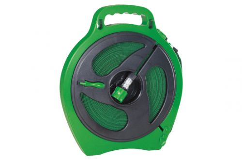 Flat Hose With Plastic Male & Female Connector & Hose Reel