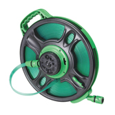 Flat Hose With Two End Plastic Quickly Hose Connector & 8 Pattern Sprinkler, Hose Reel HT-3050S