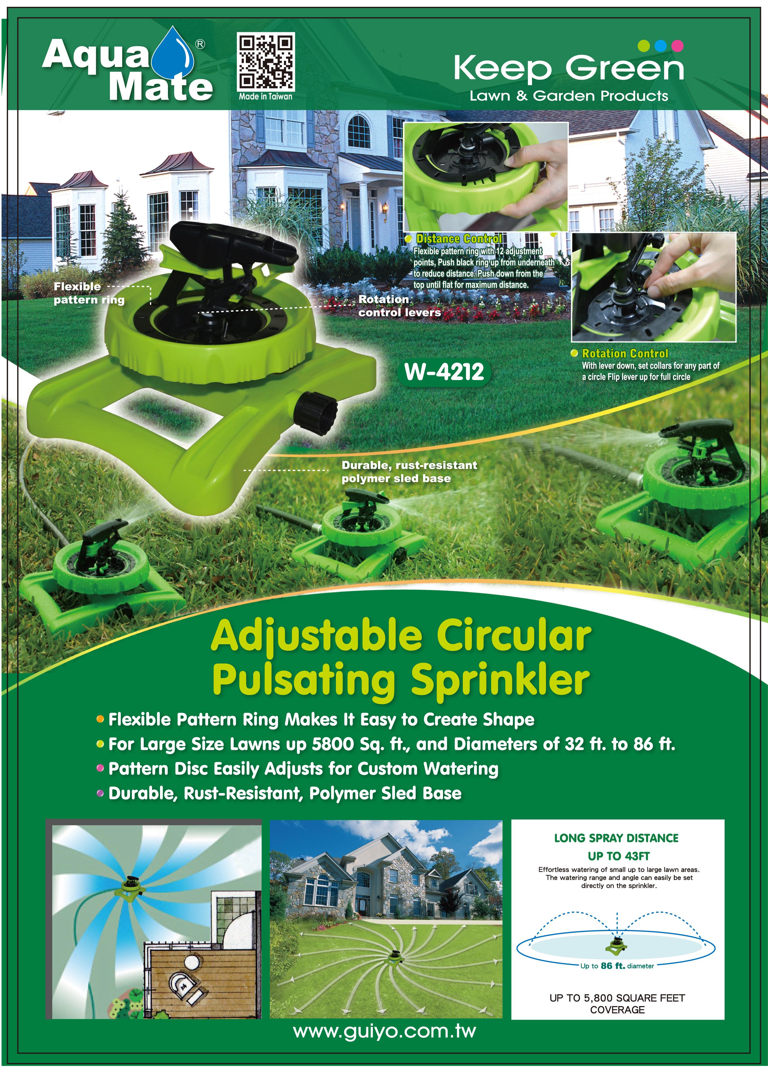 Adjustable Circular Pulsating Sprinkler