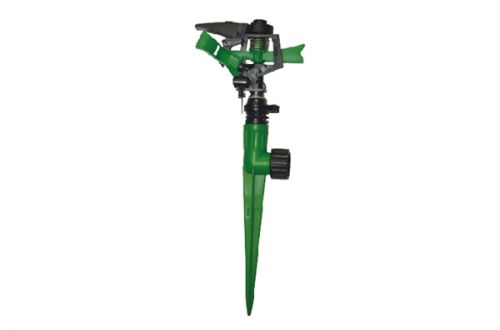 Plastic Impulse Sprinkler With Plastic 1-Way Spike PS1
