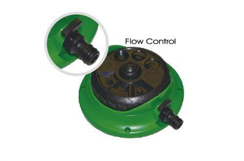 8 Pattern Turret Sprinkler with Flow Control W-4011-1