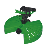 Plastic Pulsating Sprinkler With Plastic Butterfly Base W-4021